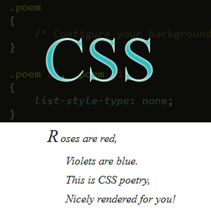 Formatting Poetry Using CSS