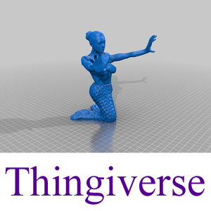 Thingiverse Model: The Mermaid