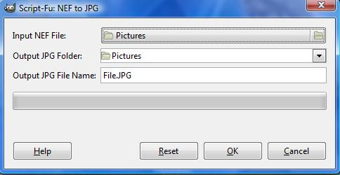 The NEF to JPG option.