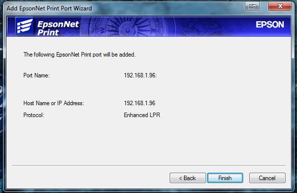 Fixing the EPSON Print: Error - Printing, Network Printer